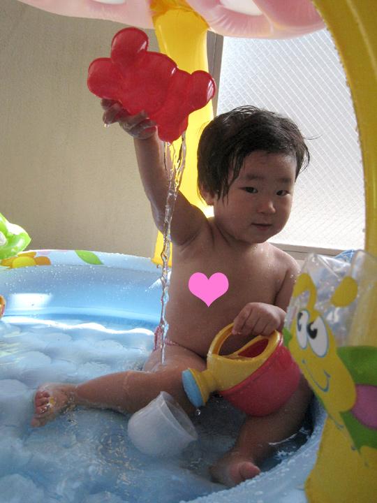 初めての自宅プール